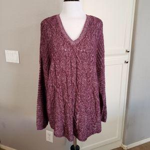 Sonoma V-Neck Tunic Sweater Size XL